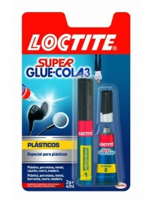 BLISTER LOCTITE SUPER GLUE PLASTICOS DIFICILES 2 GR.+4 ML