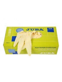 CAJA 100 PARES GUANTES LATEX S/POLVO REF.530 T.S